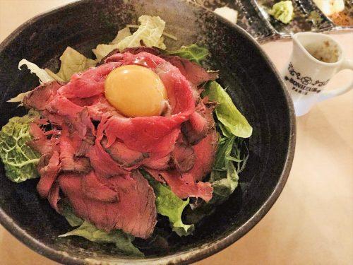 写真:ローストビーフ丼